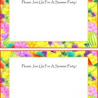 Printable Tropical Blank Summer Party Invitation - Printable Party Invitation Cards - Free Printable Invitations