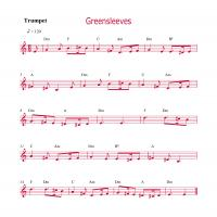 Printable Trumpet - Greensleeves - Printable Trumpet Music - Free Printable Music