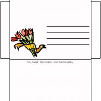Printable Tulip Envelope - Printable Card Maker - Free Printable Cards