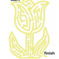 Printable Tulip Maze - Printable Mazes - Free Printable Games
