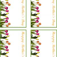 Printable Tulips for Mother's Day Gift Cards - Printable Gift Cards - Free Printable Cards