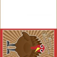 Printable Turkey Card - Printable Greeting Cards - Free Printable Cards