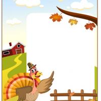 Printable Turkey Fall Scrapbook - Printable Scrapbook - Free Printable Crafts