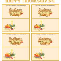 Printable Turkey Place Cards - Printable Place Cards - Free Printable Cards