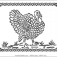 Printable Turkey Stencil - Printable Stencils - Free Printable Crafts