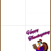Printable Turkey with a Top Hat - Printable Greeting Cards - Free Printable Cards