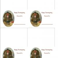 Turkey With Basket Place Cards