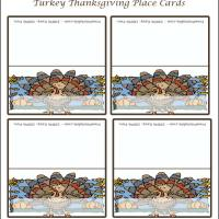 Printable Turkey With Squash Place Cards - Printable Place Cards - Free Printable Cards