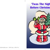 Printable Twas The Night Before Christmas - Printable Christmas Cards - Free Printable Cards