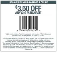 Ulta $3.50 Off $10 Coupon