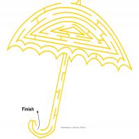 Printable Umbrella Maze - Printable Mazes - Free Printable Games
