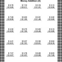 Under Ten Dollar Addition Worksheet