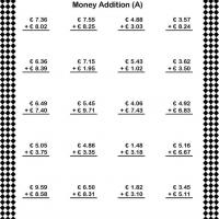 Printable Under Ten Euro Addition Worksheet - Printable Classroom Lessons - Free Printable Lessons