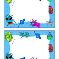 Printable Under the Sea Stationary - Printable Stationary - Free Printable Activities