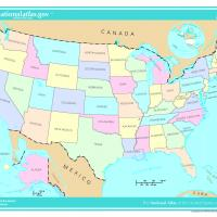 US Map- States in Light Color