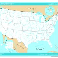 Printable US Map- Rivers and Lakes - Printable Maps - Misc Printables