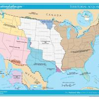 Printable US Map- Territorial Acquisitions - Printable Maps - Misc Printables