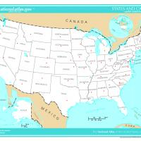 Printable US Map- Unlabeled Capitals - Printable Maps - Misc Printables