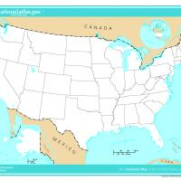 US Map- Unlabeled States