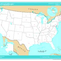 US Map- Unlabeled States and Capitals