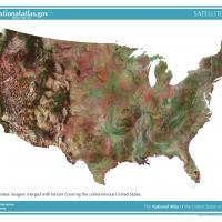US Map- Landsat Satellite