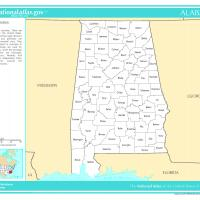 Printable US Map- Alabama Counties - Printable Maps - Misc Printables