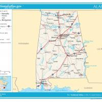 Printable US Map- Alabama General Reference - Printable Maps - Misc Printables