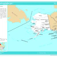 Printable US Map- Alaska Counties with Selected Cities - Printable Maps - Misc Printables