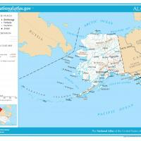 Printable US Map- Alaska General Reference - Printable Maps - Misc Printables