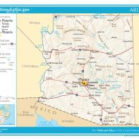 US Map- Arizona General Reference