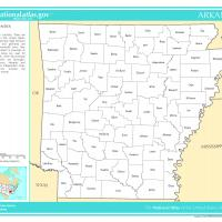 US Map- Arkansas Counties