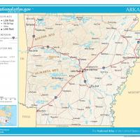US Map- Arkansas General Reference