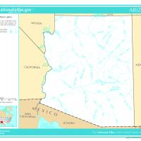 Printable US Map- Arkansas Rivers and Lakes - Printable Maps - Misc Printables