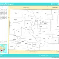 US Map- Colorado Counties