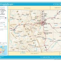 Printable US Map- Colorado General Reference - Printable Maps - Misc Printables