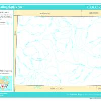 Printable US Map- Colorado Rivers and Lakes - Printable Maps - Misc Printables