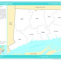 Printable US Map- Connecticut Counties - Printable Maps - Misc Printables