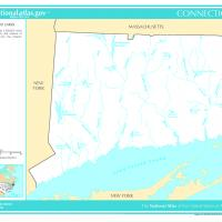 Printable US Map- Connecticut Rivers and Lakes - Printable Maps - Misc Printables