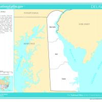 Printable US Map- Delaware Counties - Printable Maps - Misc Printables