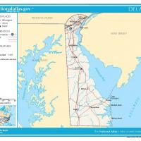 US Map- Delaware General Reference