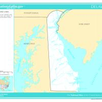 Printable US Map- Delaware Rivers and Lakes - Printable Maps - Misc Printables