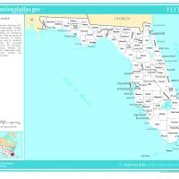 US Map- Florida Counties with Selected Cities and Towns