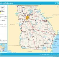 US Map- Georgia General Reference