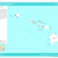 Printable US Map- Hawaii Counties with Selected Cities and Towns - Printable Maps - Misc Printables