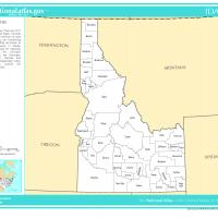 Printable US Map- Idaho Counties - Printable Maps - Misc Printables