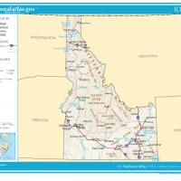 Printable US Map- Idaho General Reference - Printable Maps - Misc Printables