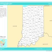 US Map- Indiana Counties