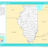 Printable US Map- Illinois Counties - Printable Maps - Misc Printables