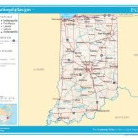 US Map- Indiana General Reference