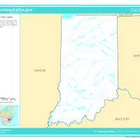 US Map- Indiana Rivers and Streams